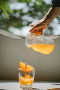 Boisson fermentée orange